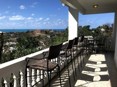 The view from the Verandah of the fort and ocean