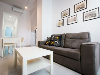 Photo for Cervantes apartment in Centro with WiFi & air conditioning.