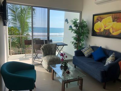 Photo for Beachfront apartment with oceanview, in Bejuco Beach, 20 minutes from Jaco