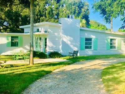 Photo for Mid-Century 2-bedroom, 1-bathroom island home just steps from the beach!