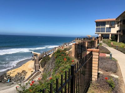 Photo for White water ocean view and stairs down to the sand!