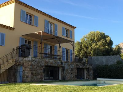 Photo for character villa with pool and mountain views