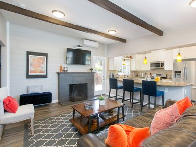 Oceanview remodeled 3 bedroom 2 bath Modern and open Solana Beach home.