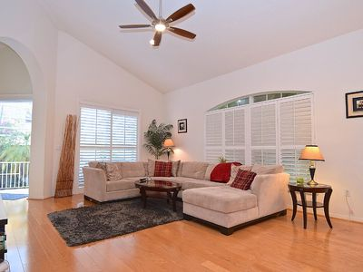 Spacious living room with plenty of room to stretch out