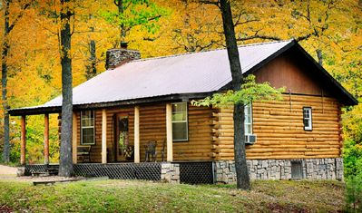 Photo for One Bedroom Log Cabin Pet Friendly