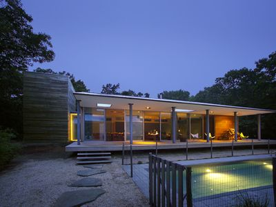 Photo for Beautiful East Hampton Modernist House on a Quiet Wooded Acre