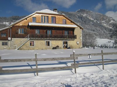 Photo for Lovely 23-person chalet, view of Mont-Blanc, hiking, biking, horseback riding