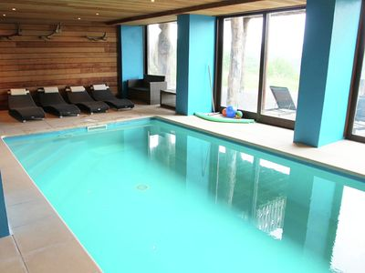 Photo for Luxurious detached holiday home with indoor swimming pool, sauna, pool table, and open fireplace