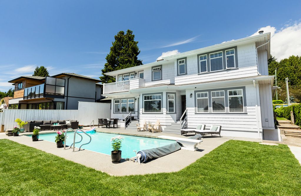 Gorgeous Home w/ Pool in West Van's Most Convenient Location-6 Blks to Beach