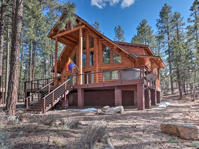 Photo for Private 1-Acre Lakeside Home with Hot Tub & Deck!