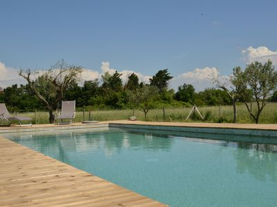 Photo for Beautiful restored farmhouse with pool between Avignon & St Remy de Provence