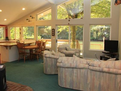 Photo for Cozy Riverfront House off Siletz