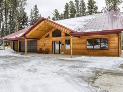 Photo for Beautiful Large (3500 sq ft.) Cabin in walking distance to Deer Mountain!