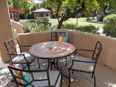 Spacious, charmin patio for spending time in the sun