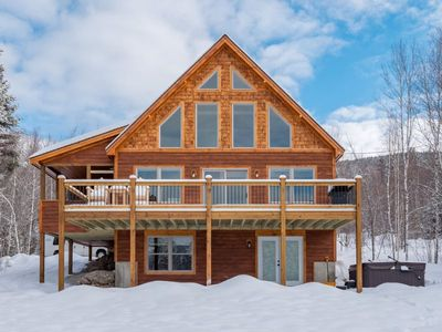 Photo for Mountain Home Overlooking Sunday River Resort with Hot Tub and Views