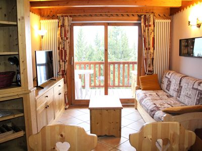 Photo for Arc 1800 Roselend 3 rooms calm residence 5/6 people, skis, pool