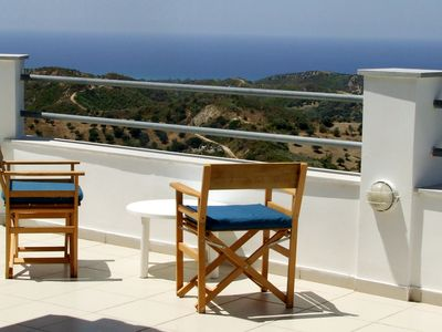 Photo for Secluded Contemporary Rooftop Retreat overlooking the Ionian Sea near to beach