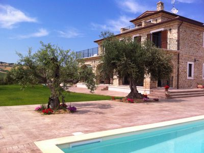 Photo for Stunning villa with private pool in peaceful olive grove