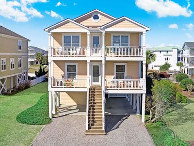 Photo for Time to chill out at Always Chillin'!  Beautiful 5 bedroom 4 bath Home with Convenient Elevator, Private Hot Tub, access to the nearby Beach Front Pool & Clubhouse as well as a Day Dock!