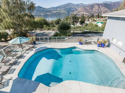 Photo for Lake  Chelan View Home with Expansive View Deck, Private Pool & Hot Tub! Pet friendly