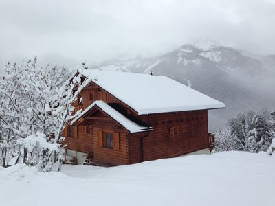 Photo for 12P beautiful cottage, Exceptional view, access to the gondola 300m, Pra Loup