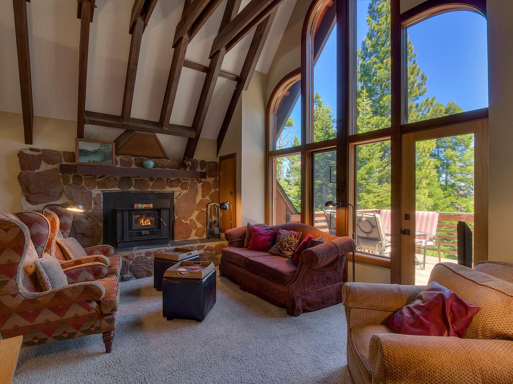 Your Tahoe Tree House Is Designer Decorated Cozy New Appliances