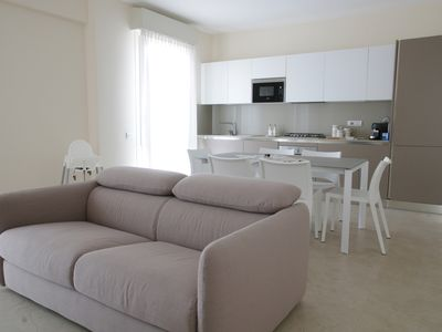 Photo for Levante, luxury apartment overlooking the sea and the city