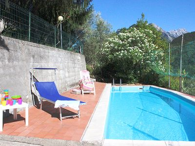 Photo for with pool, quiet, wonderful view to the apuan alps, BBQ, Wifi, 2-10 persons