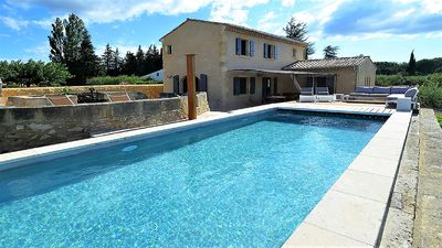 Photo for Attractive house in a private vineyard very near to the Pont du Gard and Uzes