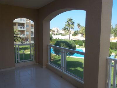 Photo for Apartment 150 m sand beach, large terrace, Wi-fi, ideal couple / family