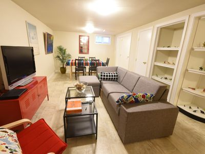 Private spacious 2BR/1.5BA flat, stylish with all the comforts of home.