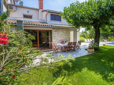 Photo for Villa Marina Vosteni with Beautifully Decorated Garden and Pool