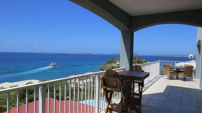 Photo for 🌴 5 star reviews - Luxury Villa with stunning views, close to town, pool