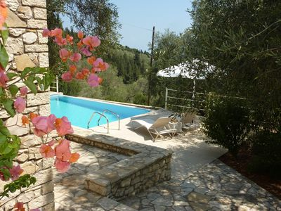 Pool terrace and garden