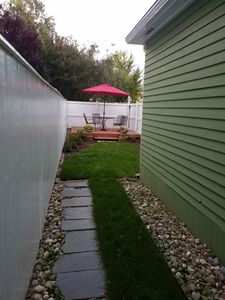 Walkway to private deck