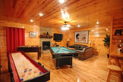 "Loaded Game Room with something for everyone & 60"" Smart  LED TV. (Sept. '15)"