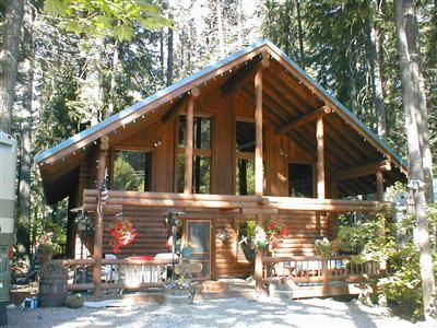 "Photo for ""Log Cabin Bliss"" - Pet-friendly, Real Log Cabin, Grand Open Layout"