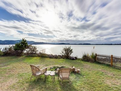 Photo for Bayview home w/ hot tub, large yard, bayfront deck, and gorgeous views!