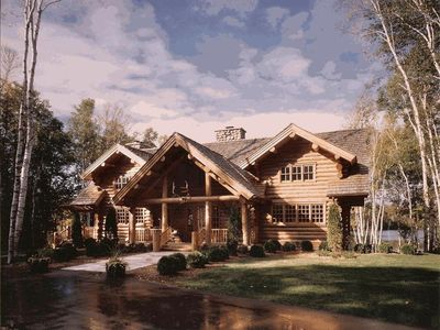 Photo for Luxurious Log Home on Private Lake