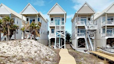 Photo for No storm damage! Great Beachfront Gulf Beaches Home, Bring Fido! Private Boardwalk, Free Beach Gear, Wi-Fi, 3BR/3BA