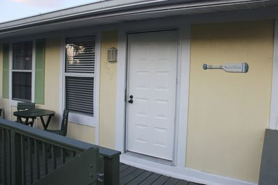 Private entrance and patio/deck where you can enjoy breakfast or sun bath.
