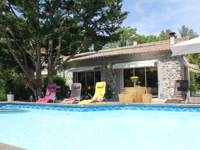 Photo for STONE HOUSE 12 People - 230 m2 in Southern Ardèche - 5 bedrooms