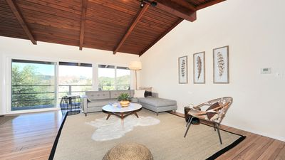 Photo for True Hollywood Hills Zen Living with Views, 2 floors of outdoor space &  Parking