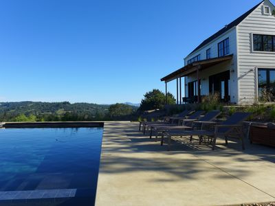 Photo for Newly Renovated Architect Designed Wine Country View Home with Pool and Spa