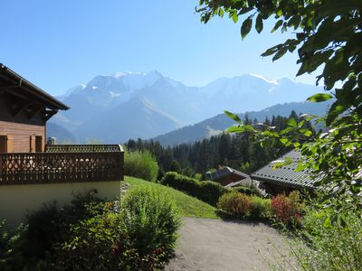 Photo for Well located apartment with stunning panoramic views of the Mont Blanc Massif