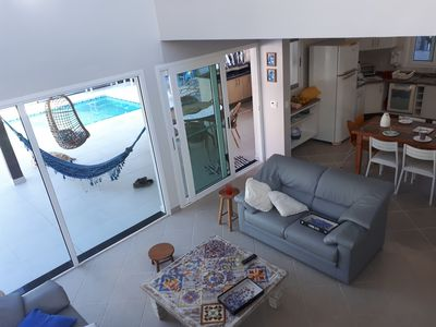 Photo for Beautiful house. Pool and balcony integrated to the rooms and kitchen. Air cond. at home.