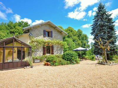 Photo for Old railway house authentic with splendid gardens on the border of the Dordogne