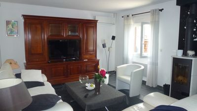 Photo for House full foot 600 m beach & port - 6 per - 3 bedrooms - indheated swimming pool