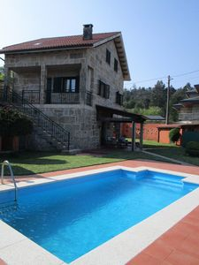 Photo for Vilaboa, Stone house in rural setting, swimming pool, wifi, well connected