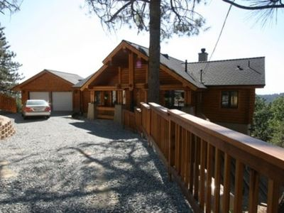 Photo for Idyllwild Vacation Rental, Log Cabin in the Sky, with A/C! Amazing View!